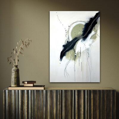 original hand painted artwork abstract dream catcher