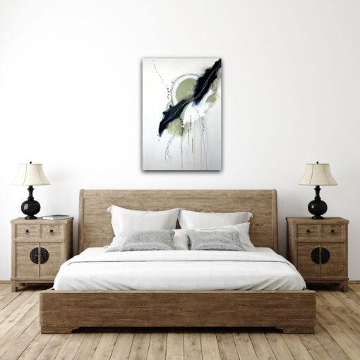 original hand painted artwork dream catcher hanging above bed