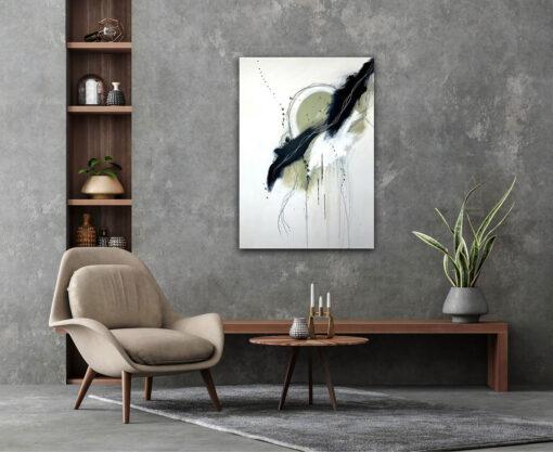 original handprinted art work dream catcher hanging in living room
